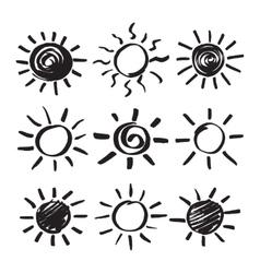 Hand Drawn Sun Set vector image