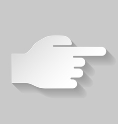 Hand pointing to right vector