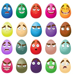 Happy easter smiling eggs vector