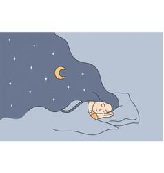 having sweet dreams at night concept vector image