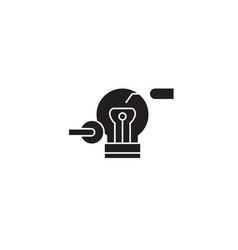 innovator black concept icon innovator vector image