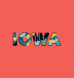 Iowa concept word art vector