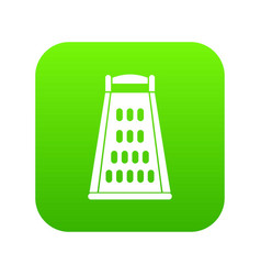 kitchen grater icon digital green vector image