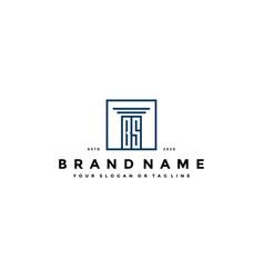 Letter bs law logo design vector
