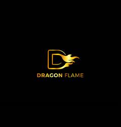 Letter d dragon flame creative business logo vector