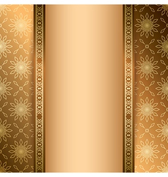 light and dark brown background with ornament vector image