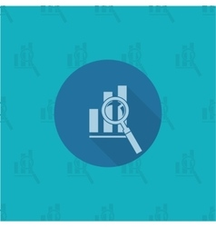Magnifying Glass with Bar Chart vector image