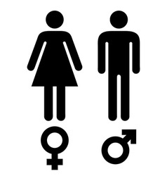 male female symbols vector image