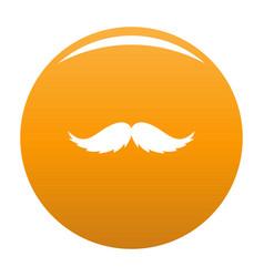 Man mustache icon orange vector