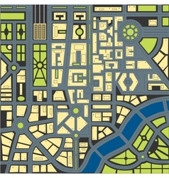 map of city3 vector image