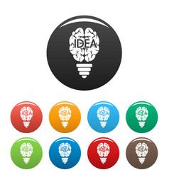 mind idea icons set color vector image