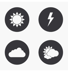 modern weather icons set vector image