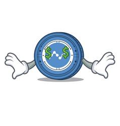 Money eye nano coin mascot cartoon vector