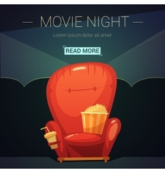Movie Night Cartoon vector