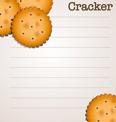 Paper design with crackers vector