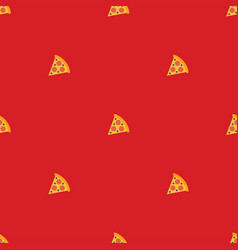 Pizza seamless pattern texture background vector