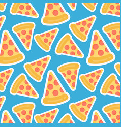 pizza slice seamless pattern vector image
