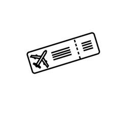 plane ticket icon vector image