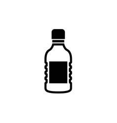 plastic bottle water flat icon vector image