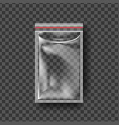 plastic zipper transparent zip wrap empty vector image