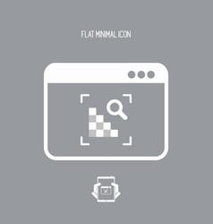 Raster image zoom - flat minimal icon vector
