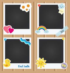 Realistic photo frames for children vector