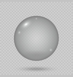 Realistic soap bubble isolated template for your vector