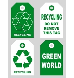 Recycling tags set front and back sidesOrganic eco vector image vector image