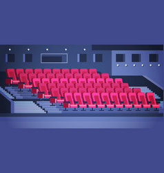 rows red theater or cinema seats empty no vector image