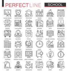 school education outline concept symbols perfect vector image vector image