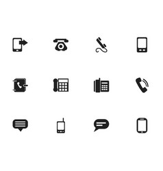 set of 12 editable gadget icons includes symbols vector image