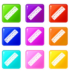 Sponge for cleaning icons 9 set vector