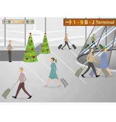 The airport terminals vector