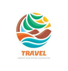 Travel - concept business logo template vector