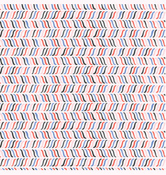 trendy sketchy line marks seamless pattern vector image