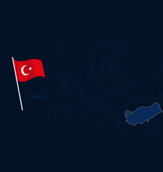 turkey on europe map high quality map europe vector image
