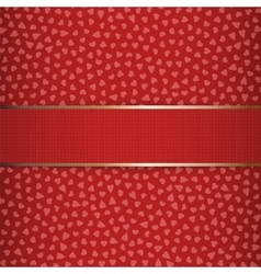 Valentines Day or Christmas red Ribbon vector