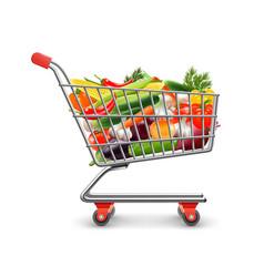 Vegetables shopping concept vector
