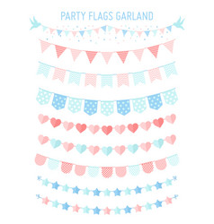 vintage bunting party flag vector image