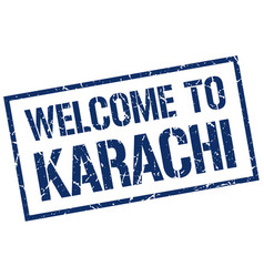 Welcome to karachi stamp vector