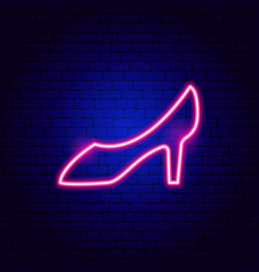 woman shoe neon sign vector image