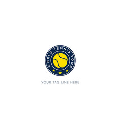 World championship tennis logo badge sport vector