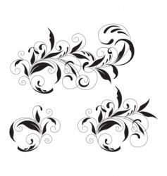 black ornament vector image