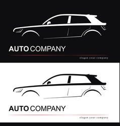 design car silhouette vector image vector image
