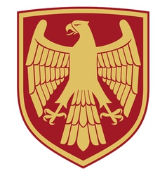 Eagle - coat of arms vector image