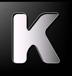 letter k sign design template element vector image vector image