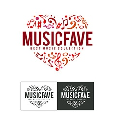 Music fave logo vector