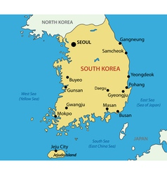 Republic of Korea - map vector image vector image