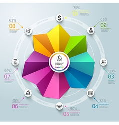 Business Infographics circle origami template vector image vector image