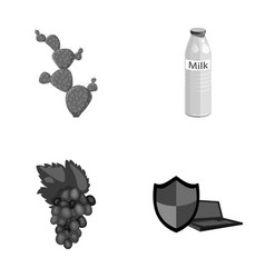 cactus milk and other monochrome icon in cartoon vector image vector image